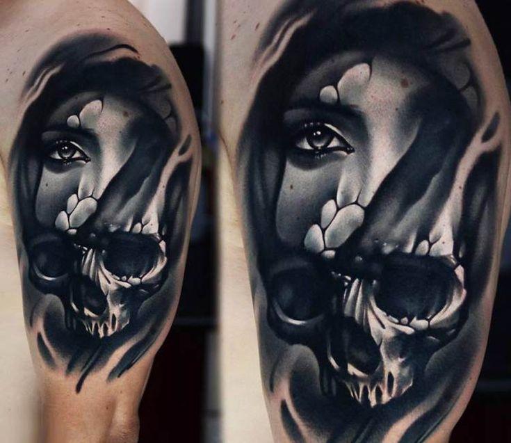 Tattoo Woman Face Design: 25+ Best Ideas About Skull Face Tattoo On Pinterest