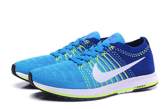 f44a8ec6bfac4 fashion shoe buy Mens Sneaker Nike Air Zoom Flyknit Streak 6 Blue Lagoon  Dark Blue