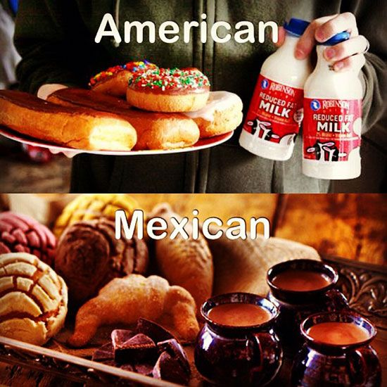 """Things Mexicans Do People Find Weird #5: Having your own """"Mexican"""" version of """"American"""" things.  Bingo? We have Loteria.   Twinkies? Gansitos taste better — especially frozen.   Pudding? Give me some Arroz con Leche.   Breaking Bad? We'll be over here watching El Señor de Los Cielos.   Donuts? I'd rather have some conchas.   Corn on the cob? Elote with extra chili powder, please.  Hot chocolate? How about champurrado or Abuelita instead?"""