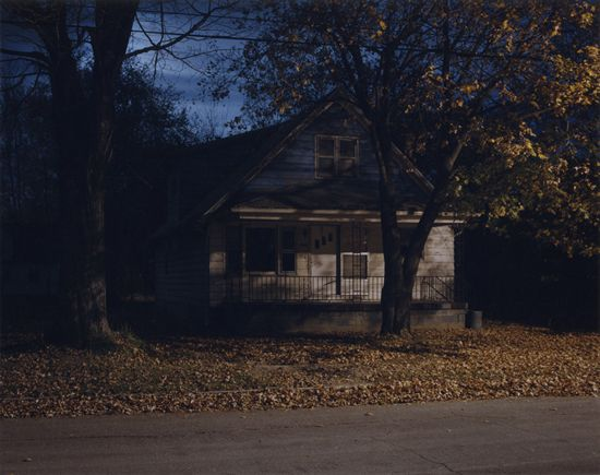 """[Untitled, #2312-a, 1999]  One of my favorite Todd Hido images. """"That neighborhood was so spooky to me I can't really even explain what it was like to stand there. You felt like you were being watched. But there was no one there except for just a few homes…"""" -Hido, Ahorn Magazine"""