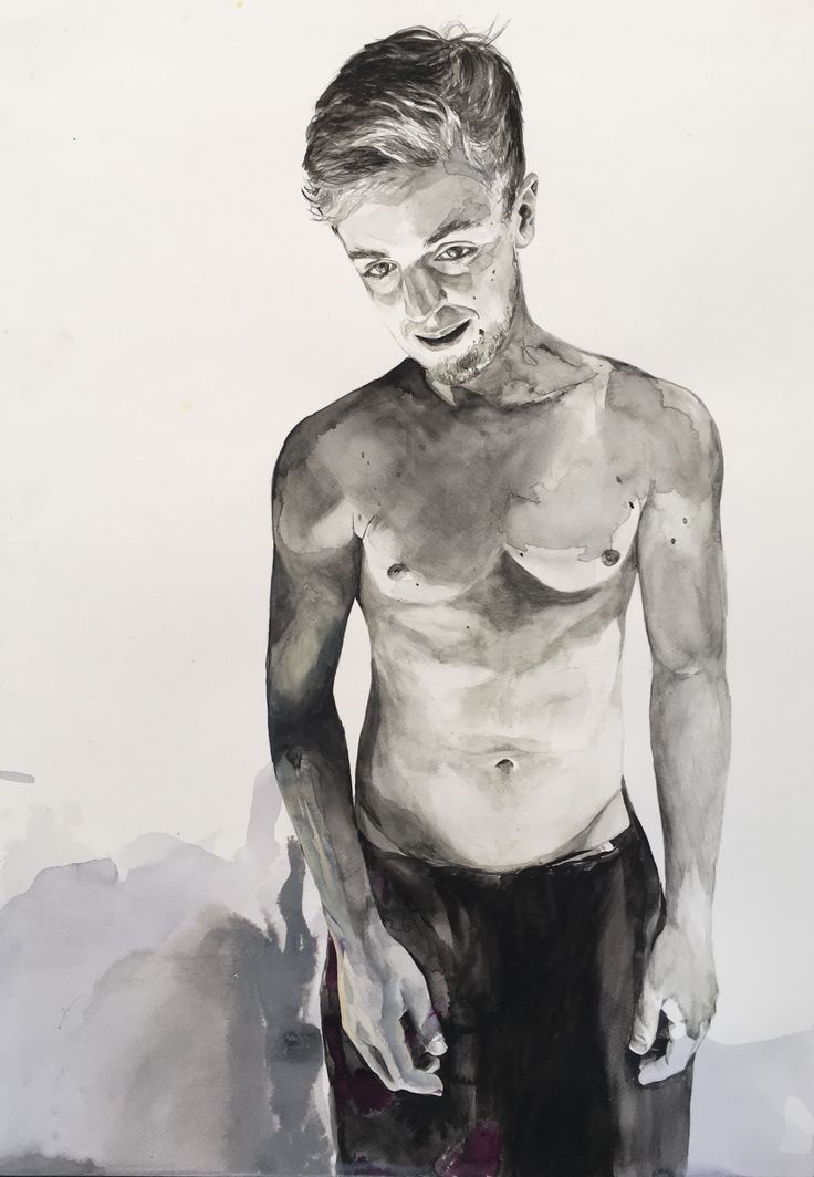 Paul 2017 watercolour on paper Karin Dando