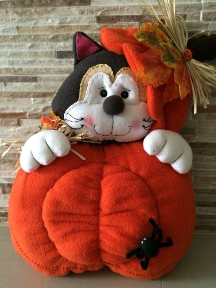 Gato calabaza Halloween