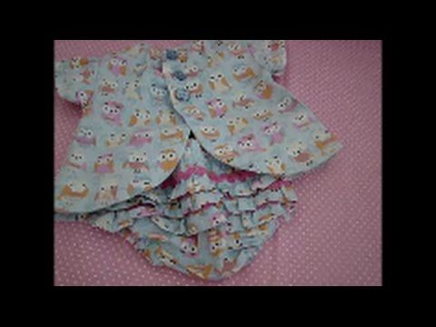 Vestido para bebê com manga e abertura atrás passo a passo   Cantinho do Video Costura em Roupas