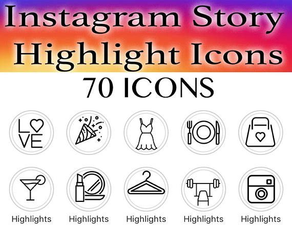 70 Instagram Story Highlight Icons On White Background Covers Instant Download Love Oootd Beauty Food Icons Story Covers Travel Seni