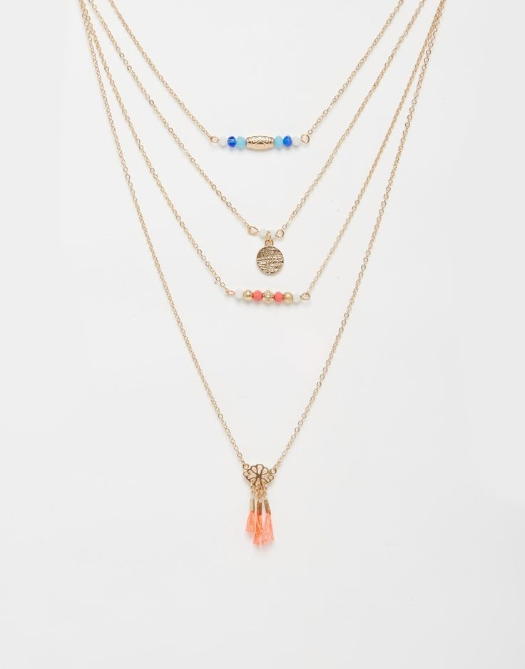 Изображение 1 из Многослойное ожерелье с кисточками ALDO Polezzo