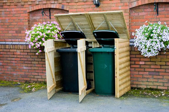Wheelie Bin Storage. So much nicer to have them tucked away instead of out in the open