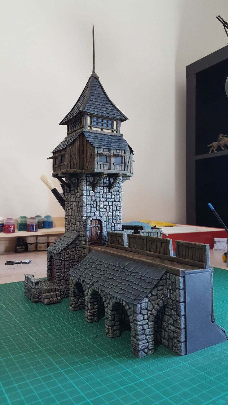 Medieval Tower - 28mm Building - Tabletop - Terrain - Diorama - Wargaming
