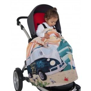 Great beachy blanket. Just right for my personality! I love the old VW. Weegoamigo Baby Blanket Adventure Beach Babies