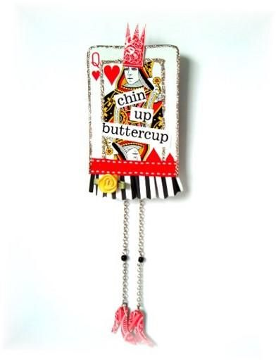 Upcycled Playing Card Dolls.         Gloucestershire Resource Centre http://www.grcltd.org/scrapstore/
