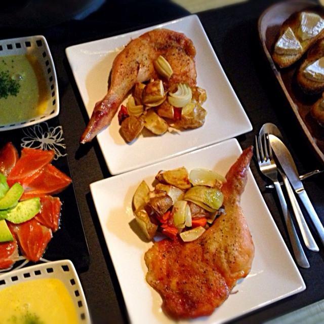 まずはやっぱりチキンよね - 6件のもぐもぐ - クリスマスイブディナー by nozomihashh6U