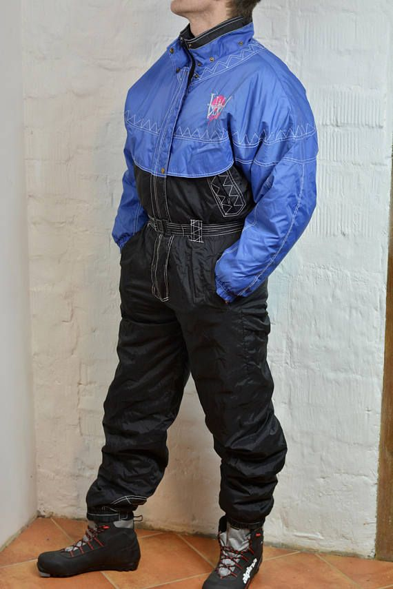 b0a52c6c0c81 80s 90s One Piece Ski Suit BY POLAR Retro Snowsuit Hipster Snow Pants With  Belt Winter Wear Snow Gear Jumpsuit Snowboard