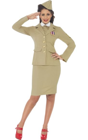1940s American Army Girl Costume.