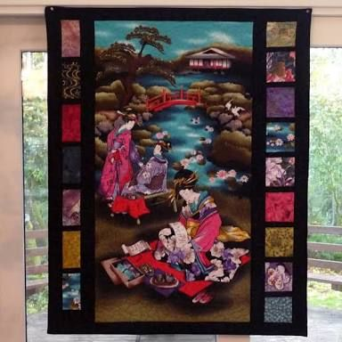Image result for asian style panel quilts