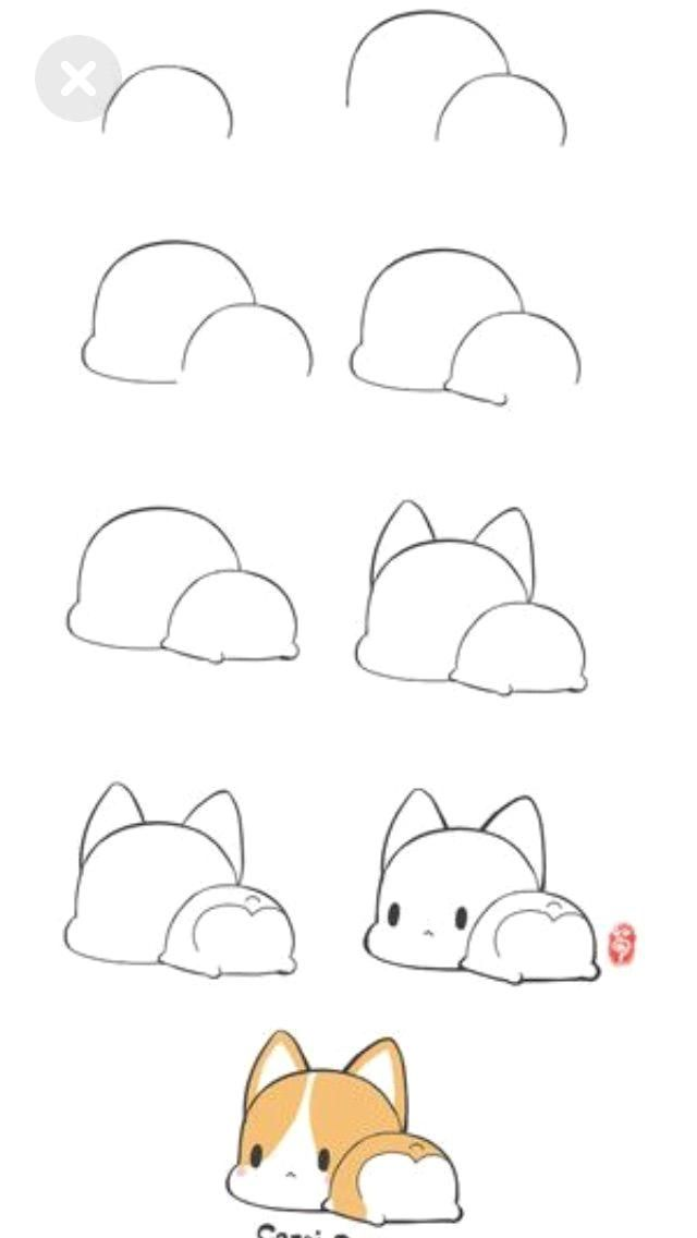 How To Draw A Cute Puppy With Images Cute Easy Drawings Cute