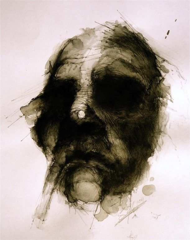 "Saatchi Online Artist: simon riley; Pen and Ink, Drawing ""c"""
