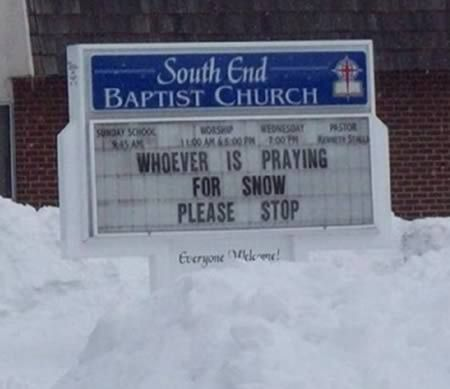 15 Hilariously Menacing Church Signs - I love these! xD