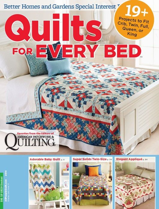 329 best revistas de quilting images on pinterest magazines quilts for every bed better homes gardens special interest publication 2014 fandeluxe Choice Image