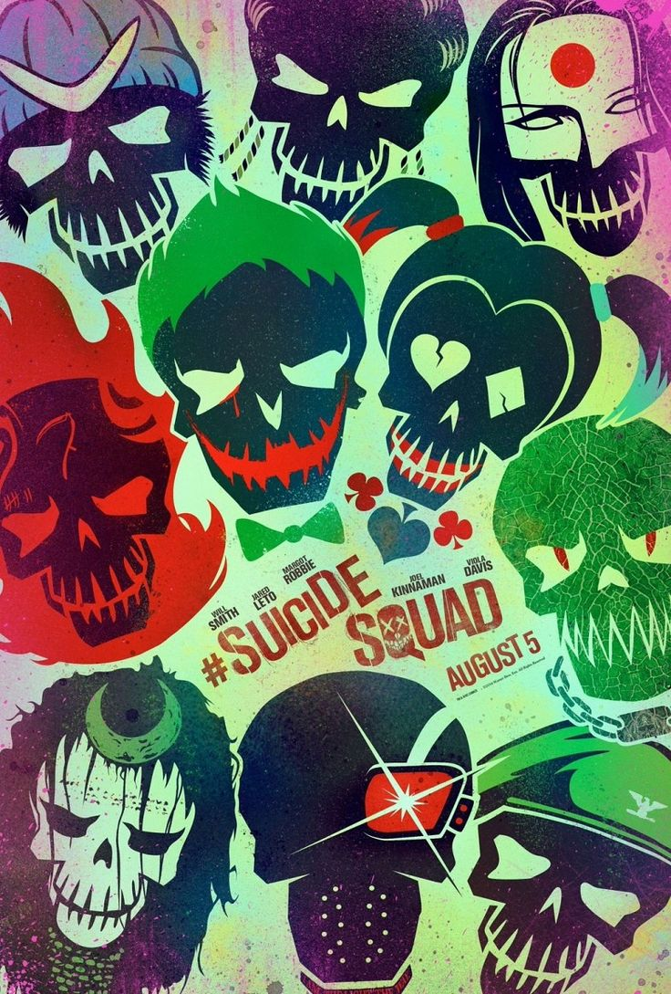 "We can't look away from this trippy ""Suicide Squad"" poster! get your hands on some die casts too! http://www.zavvi.com/merch-figures/suicide-squad-the-joker-finders-keypers-statue/11312351.html"
