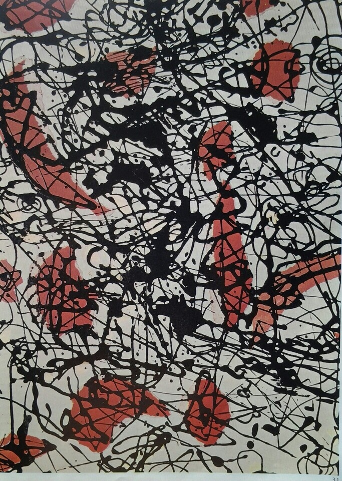 Jackson Pollock - Seven (1950) - Oil paint on canvas - Cardazzo Collection Venice