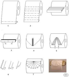 Homemade Lemon Cake: Toilet Paper Origami
