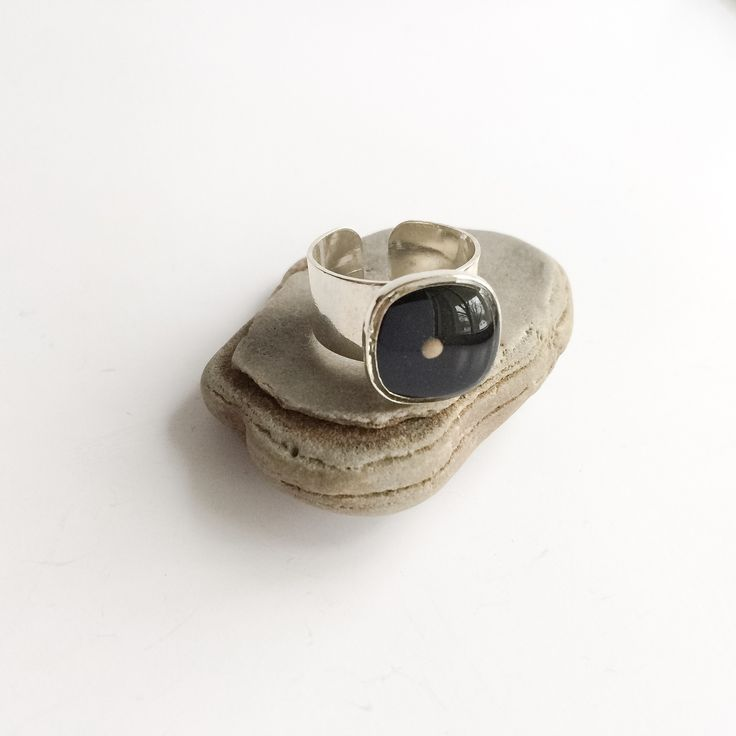 mustard seed ring - silver