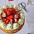 Naked cake aux fraises, crème à la vanille et mascarpone