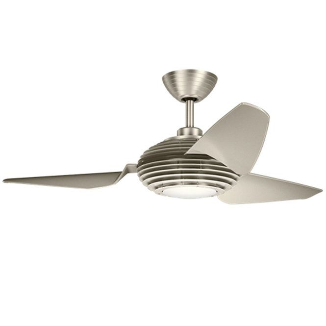 "50"" Modern Cage LED Ceiling Fan brushed_stainless_steel_champa"