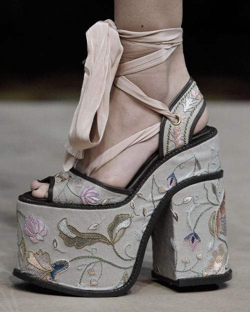 vivienne westwood tie up embroidered platforms but don t