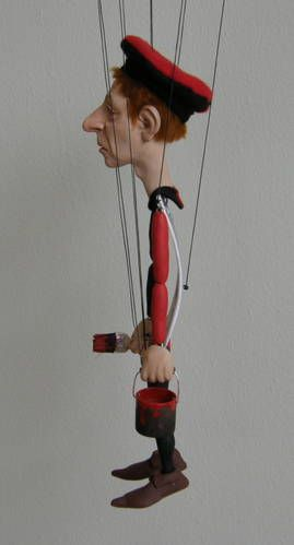 FIMO marionette   so clever!
