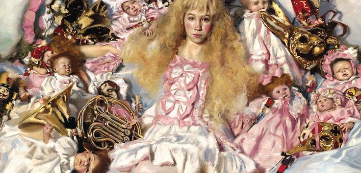 Ep 65 – Teresa Oaxaca : Sumptuous Excellence. Teresa Oaxaca's paintings look like a Ringling Circus, a Flower Show, and a Vintage Clothing festival all mashed into one.  (I'm quoting her twitter profile.)  Classically trained and technically brilliant her work brings you powerfully into her world. Normally based in Washington, she chatted with me from the Hague in Holland where she was between teaching assignments in Europe.