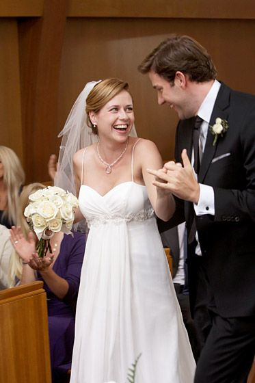 The Office's characters Pam Beesly and Jim Halpert got married on the show in 2009