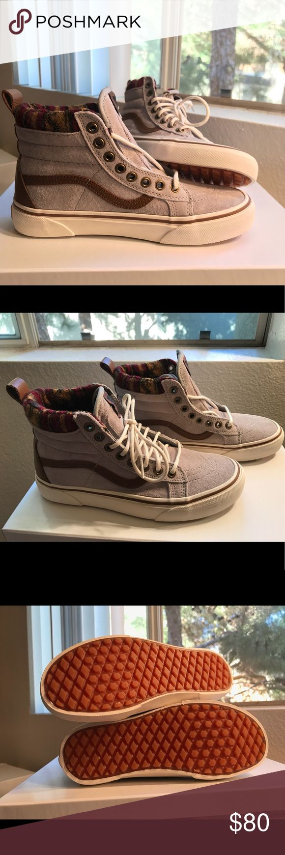 Vans SK8-HI MTE geo tan Brand new, never worn! Vans MTE's. SOLD OUT ONLINE! Size 5.5 men's. 7.0 ladies. Come with scotchgard 3M protection. Does not come with box, but all stickers still attached to interior. No defects to report.  Open to offers. Vans Shoes Sneakers