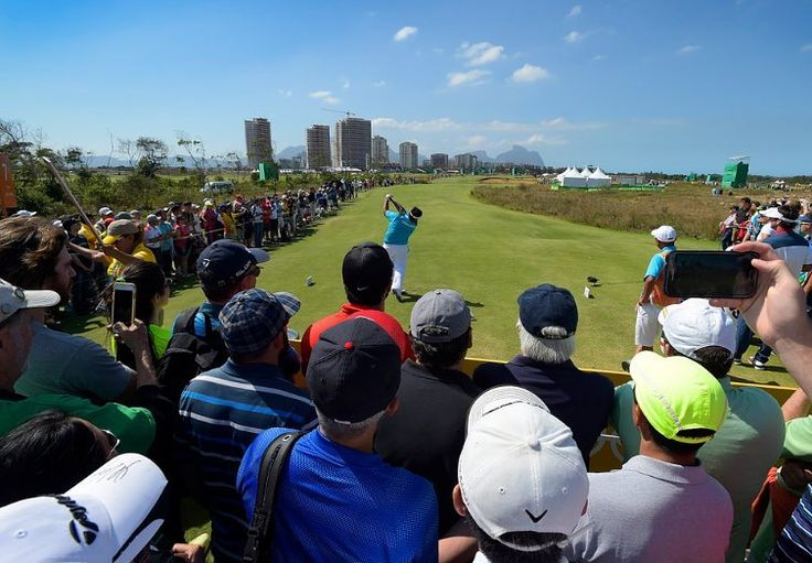 A course scenic view of fans watching play during the third round of the Rio 2016 Olympic Games at the Olympic Golf Course on August 13 2016 in Rio de Janeiro Brazil. (Photo by Stan Badz/PGA TOUR/IGF) http://ift.tt/2aRraCP