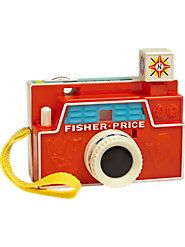 "Fisher-Price Camera - The Vermont Country Store $24.95 | 3 classic picture disks. ""Flash cube"" rotates. Classic!"