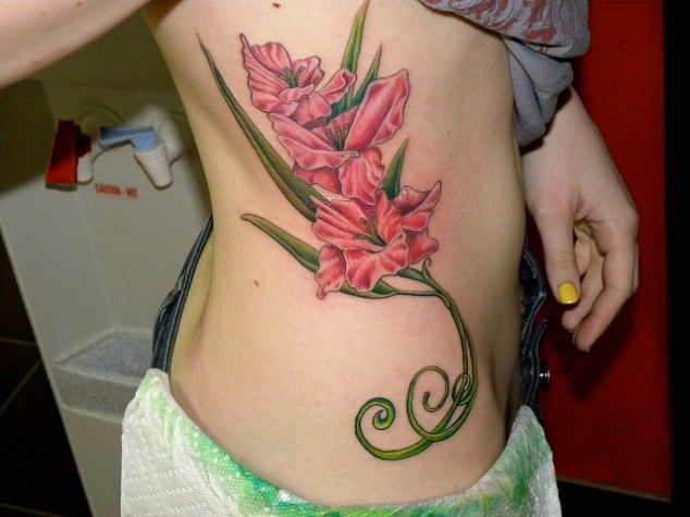 Photo Realistic Flower Tattoos Google Search: Gladiolus Flowers Tattoos - Google Search