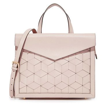 Welden Voyager Flap Satchel by Welden. Woven leather composes this roomy Welden satchel. A magnetic flap covers a slim front pocket, and the inset top zip o...