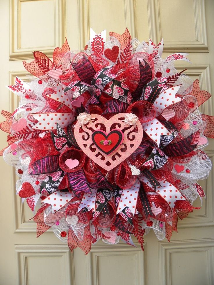 34 best Valentines Day Deco Mesh Wreaths images on Pinterest ...