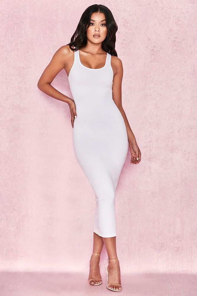 aace6b66585 HOUSE OF CB  Tomlin  White Midi Length Vest Dress XS 6   8 SG 071  fashion   clothing  shoes  accessories  womensclothing  dresses (ebay link)