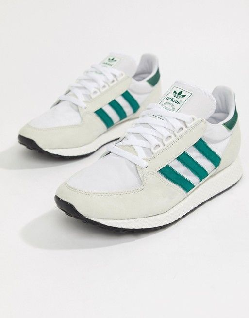 hot sale online 10b83 4b9ef adidas Originals Forest Grove Sneakers In White B41546 in 2019   Boho    Adidas, Sneakers, Adidas originals
