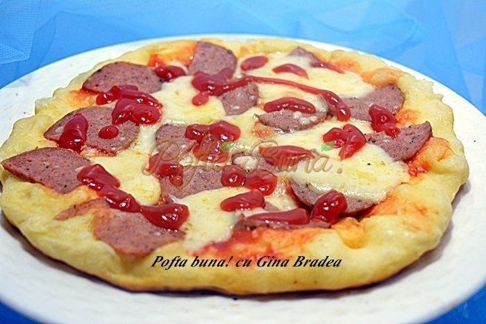 Pizza la tigaie (pancakes aperitiv)
