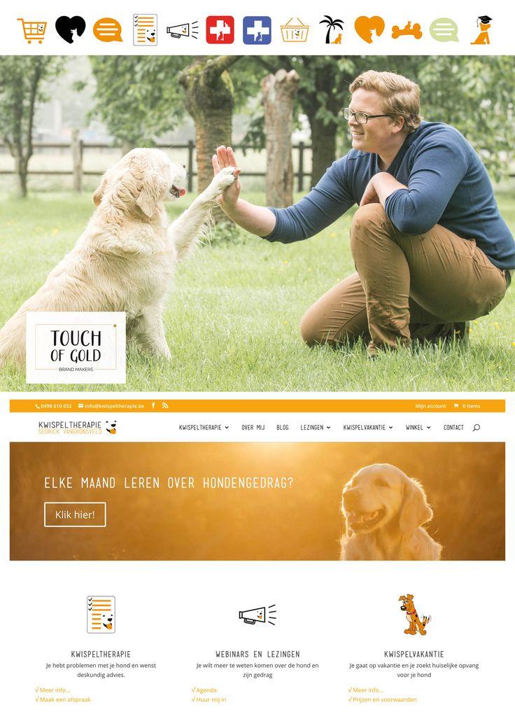 Wij leerden Sedrick al een tijdje geleden kennen als een ervaren hondentherapeut met ambitie! We stonden even verbaasd toen hij z'n visie uit de doeken deed, die is op en top af en heel erg vooruitstrevend. Wij hielpen hem met een nieuwe website met blog en webshop - www.kwispeltherapie.be #website #moodboard #staygold #touchofgold #spothlighttuesday #brandmakers #ehbofordogs #kwispel #doglover #hondentherapie #hondentraining #hondengedrag
