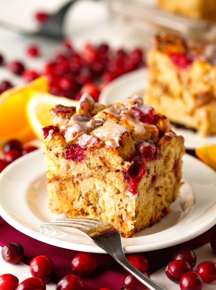 Cranberry Cinnamon Roll French Toast Bake