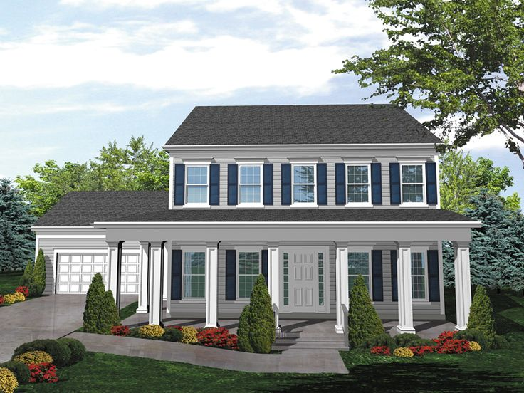 25 great ideas about colonial house exteriors on for Colonial homes magazine house plans
