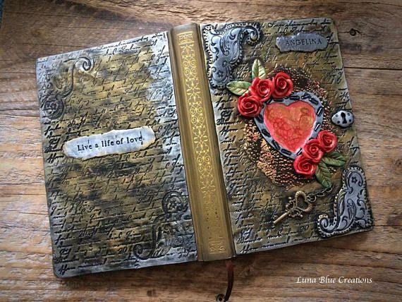 Personalized Heart Journal Custom Heart Journal Personalized