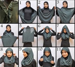 Cara Memakai Jilbab modern | http://www.kutas-s.blogspot.com/2012/06/inilah-cara-memakai-jilbab-modern.html
