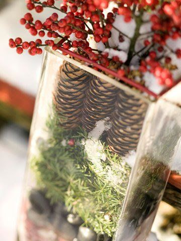 Gather pinecones from the yard to warm your home in the chilly months.