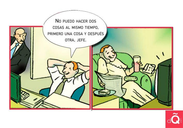 Multitarea #Spanish #joke #LearnSpanish http://www.donquijote.com/