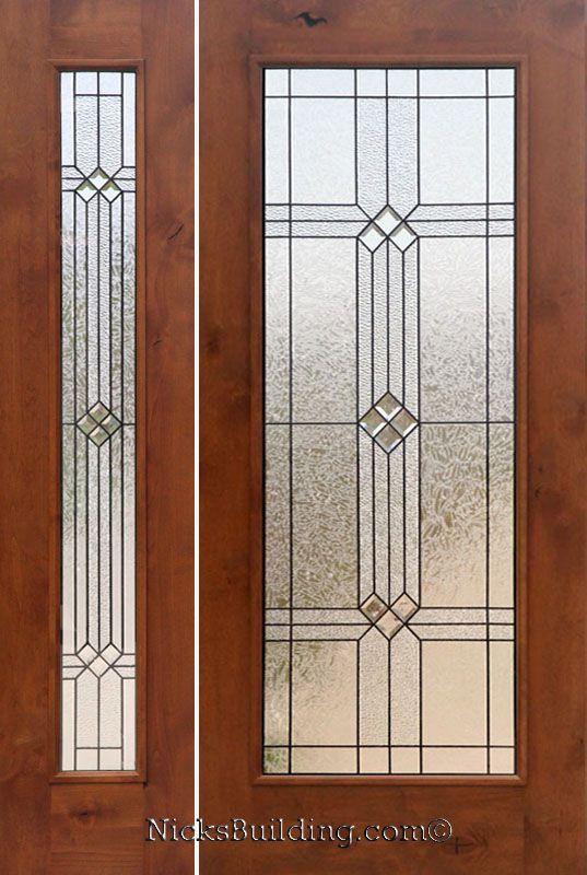 Front Door With Sidelights Rustic Doors With 1 Sidelight Knotty Alder Rustic Exterior Doors
