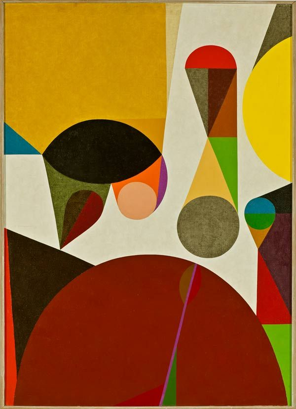 Frederick Hammersley  Summon up, #11 1958, oil on linen, panel: 49 x 34.75 inches, frame: 50.25 x 36.25 inches