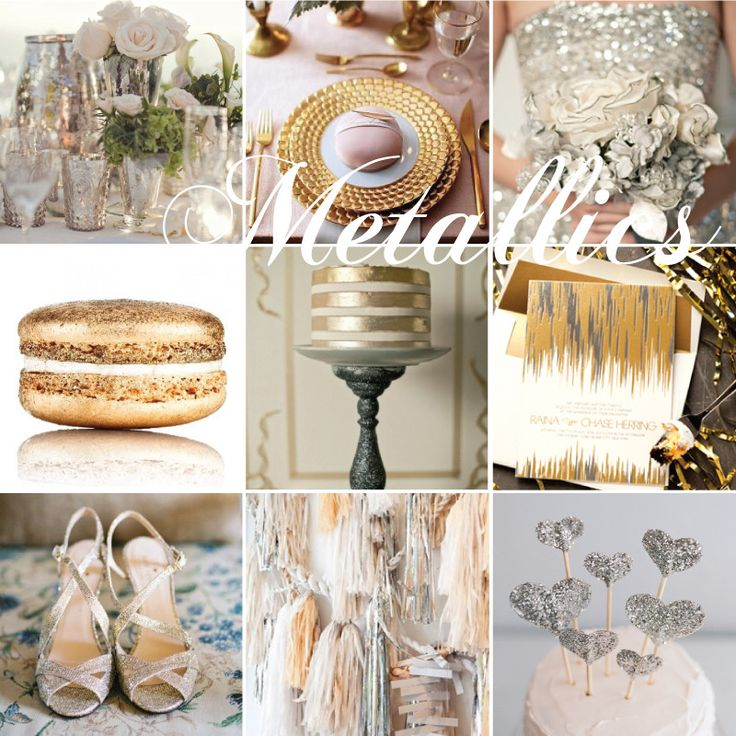 What's Hot and What's NOT for Your Summer Wedding: Metallics Wedding Theme.